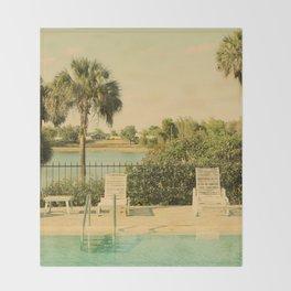 Lolita's Poolside Vacation - Beach Art Throw Blanket