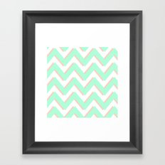 3D CHEVRON MINT/PEACH Framed Art Print