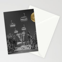 Chair Lift to the Moon Stationery Cards