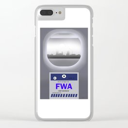 Fort Wayne - FWA - Airport Code and Skyline Clear iPhone Case