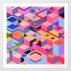 Isometric Chaos Art Print