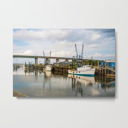 At the Dock Metal Print