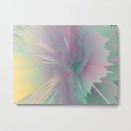 Pastel Rainbow Rays - Abstract Art by Fluid Nature Metal Print