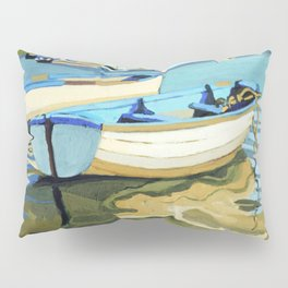 The Blue Boats Pillow Sham