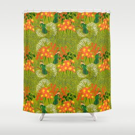 Birds n berries Shower Curtain