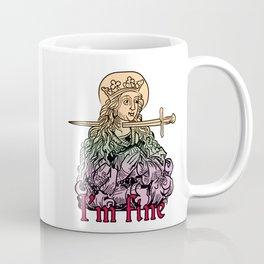 I'm fine - classical art memes - color Coffee Mug
