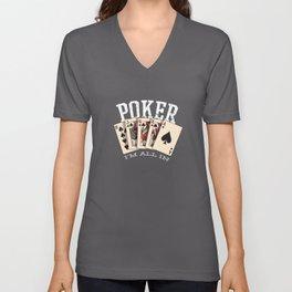 Poker Im All In Gambling Gift Gambler Unisex V-Neck