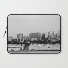 Back Side of the Bellagio // Las Vegas Strip City Landscape Cloudy Snow Day Foggy Raw Photograph Laptop Sleeve