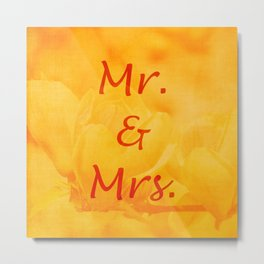 Mr. and Mrs. Metal Print