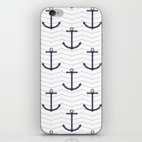 nautical iPhone & iPod Skins featuring Nautical by Background Labs