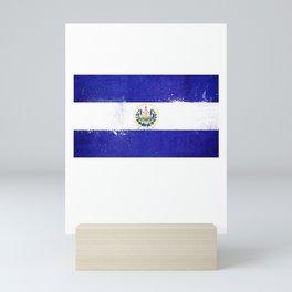 El Salvador Flag design | Salvadoran design Mini Art Print