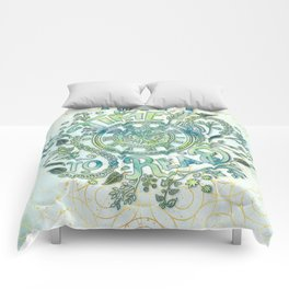 Time To Read - Watercolor Green Comforters