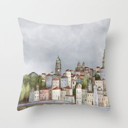 Porto landscape Throw Pillow