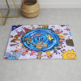 We are all one being Rug