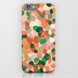 Carnival confetti pink and green iPhone Case