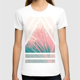 Pastel Palms into Triangle T-shirt