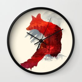 Fox Memories Wall Clock