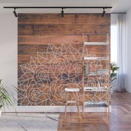 Wood Mandala I Wall Mural
