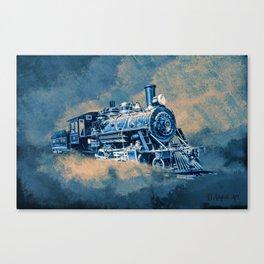 Night Line Blues Canvas Print