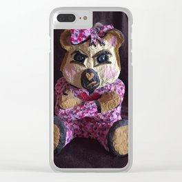Teddy with attitude Clear iPhone Case