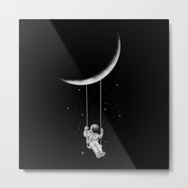 Moon Swing Metal Print