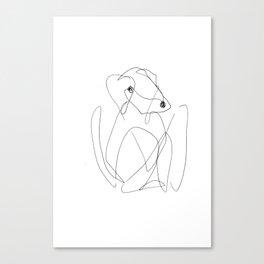 He was a very creative dog Canvas Print