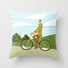 Road Cycling With Rodent Power Poster Throw Pillow