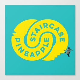 PineappleStaircase | Official Logocolor 2015 in Turquoise/Yellow + Honu Canvas Print