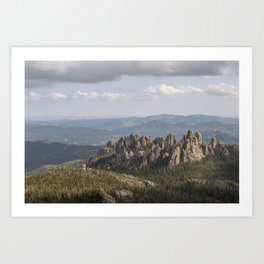 The Cathedral Spires in the Landscape of the Black Hills Art Print
