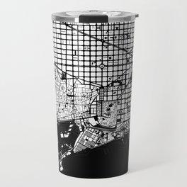 Barcelona city map black and white Travel Mug
