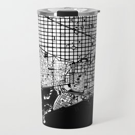 Barcelona city map black and white Travel Mug