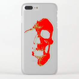 Skull - Red Clear iPhone Case