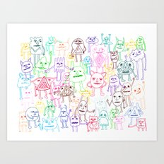 Shapes Gang Art Print