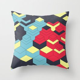 Two Sides A + B Throw Pillow