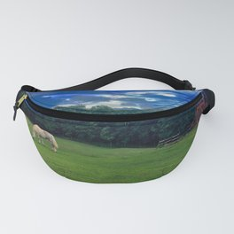 White Horse Grazing Fanny Pack