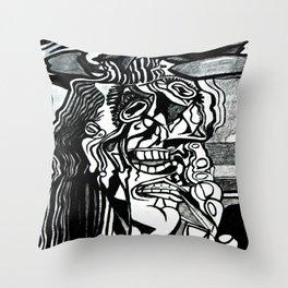 Basically Picasso Throw Pillow
