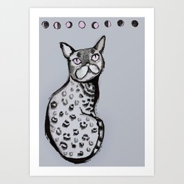 Lunar Neko Art Print