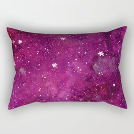 Watercolor galaxy - purple Rectangular Pillow