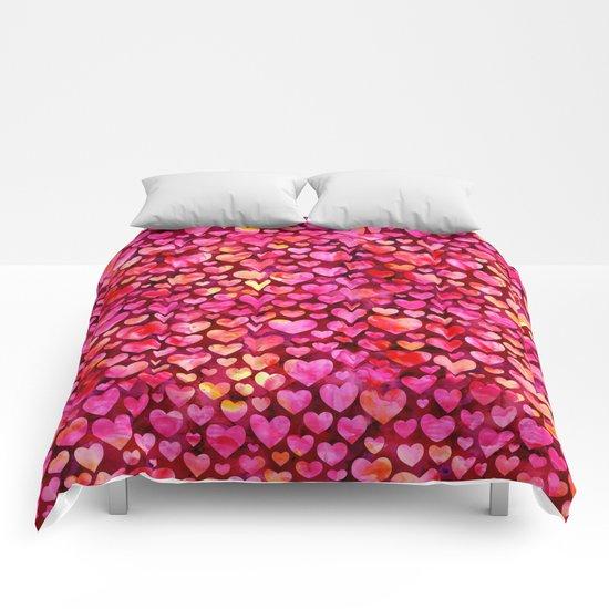 Heart Pattern 03 Comforters