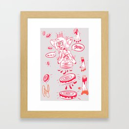 queen of dismemberment  Framed Art Print