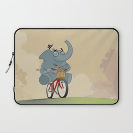 Mr. Elephant & Mr. Mouse 'Bicycle' Laptop Sleeve