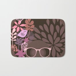 Afro Diva : Sophisticated Lady Pink Taupe Lavender Bath Mat