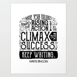 Keep Writing Art Print