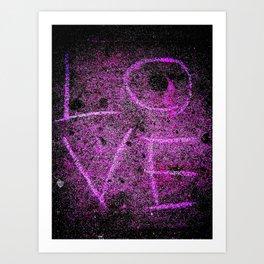 Word on the street is...LOVE! Art Print