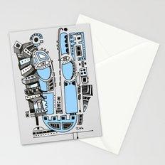 Sad robot Stationery Cards