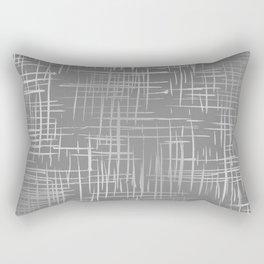 Crosshatch Gray Rectangular Pillow