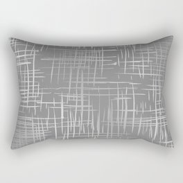 Crosshatch Gray Rectangular Pillow
