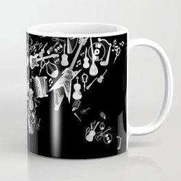 world map music black and white 3 Coffee Mug
