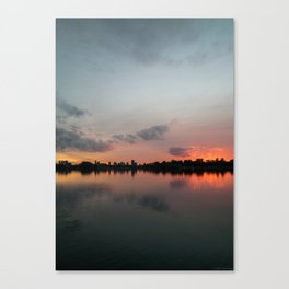 Color symmetry in Rotterdam Canvas Print