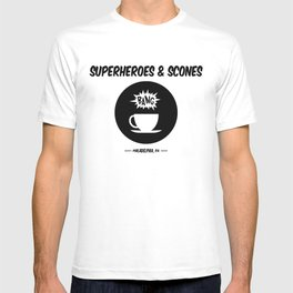 Superheroes and Scones T-shirt